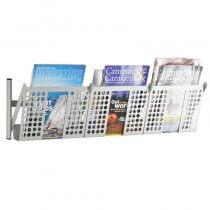 LandRakk Matt Grey Magazine Rack Wall Mounted