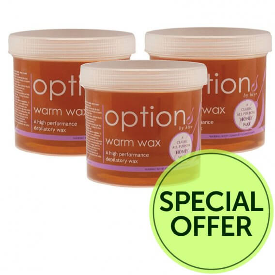 Options by Hive Warm Honey Wax 425g Special Offer Pack