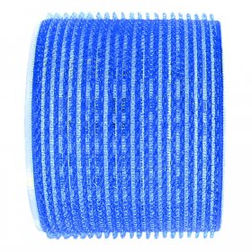 Sibel Jumbo Velcro Rollers Dark Blue 80mm x 3