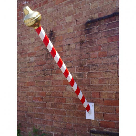 Barber Flag Pole with Wall Fixing