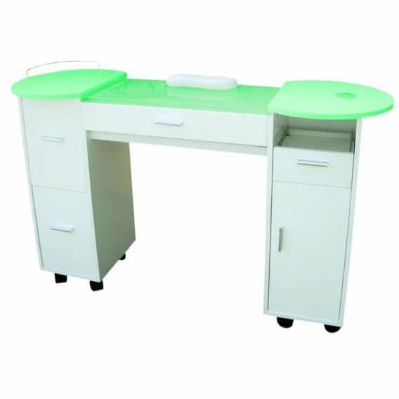 Lotus Milan White Wood Manicure Station