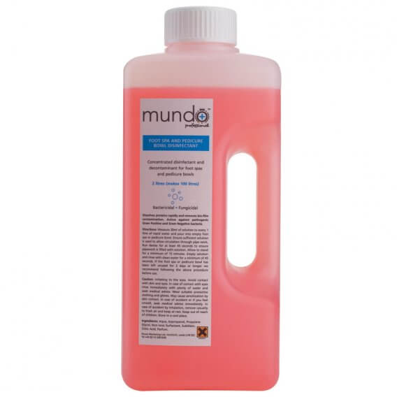 Mundo Disinfectant for Foot Spa and Pedicure Bowl 2 Litre