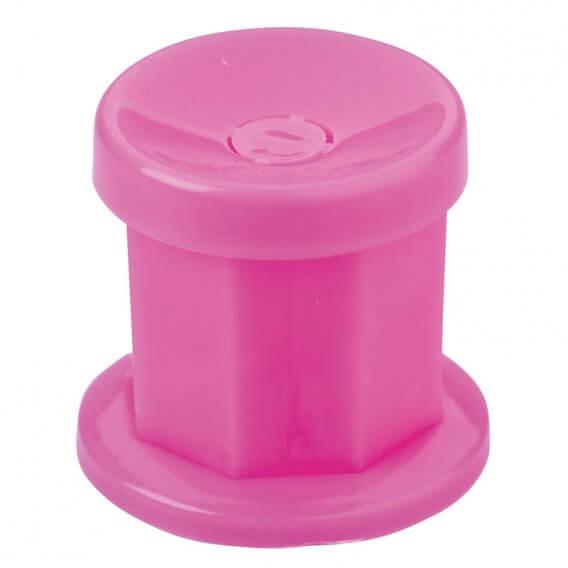 Sibel Plastic Dappen Dish with Lid Pink