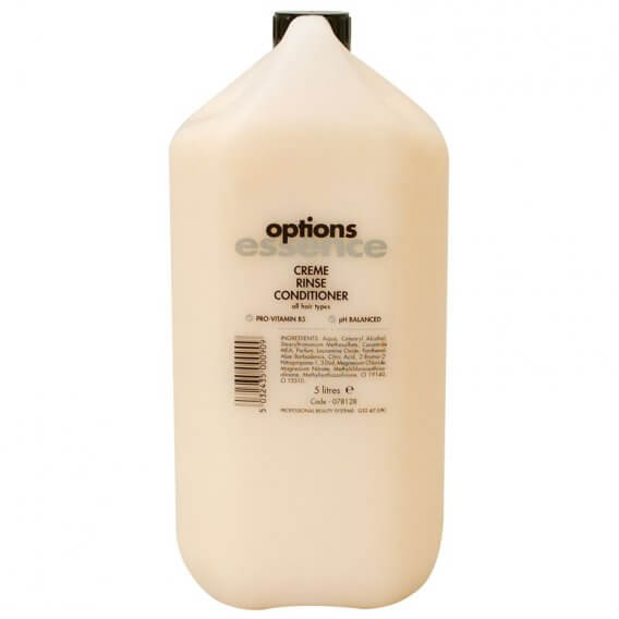 Options Essence Cream Rinse Conditioner 5 Litre