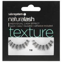 Salon System Naturalash 118 Black Texture Strip Lashes