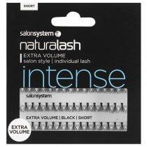 Salon System Individual Flare Lashes Black Short Extra Volume