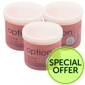 Options by Hive Sensitive Creme Wax 425g Special Offer Pack