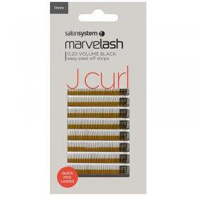 Marvelash J Curl Lashes 0.20 Volume 11mm Black x 620 by Salon System