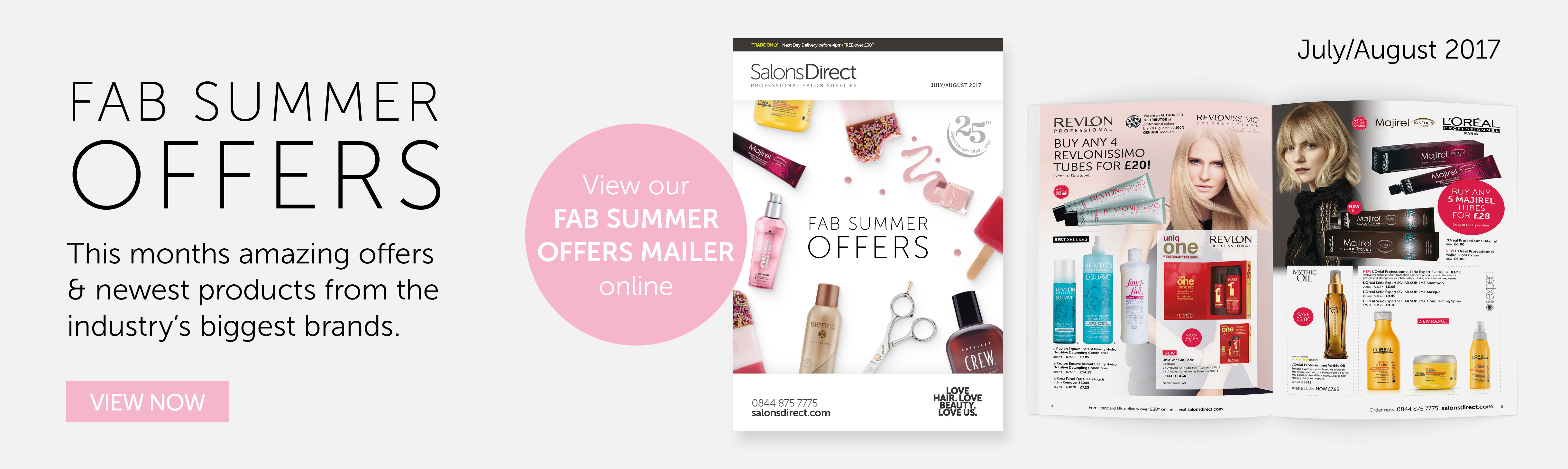 July/August Mailer | Salons Direct