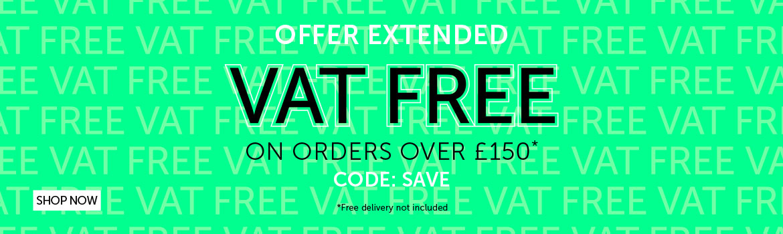 VAT free over £150   Salons Direct